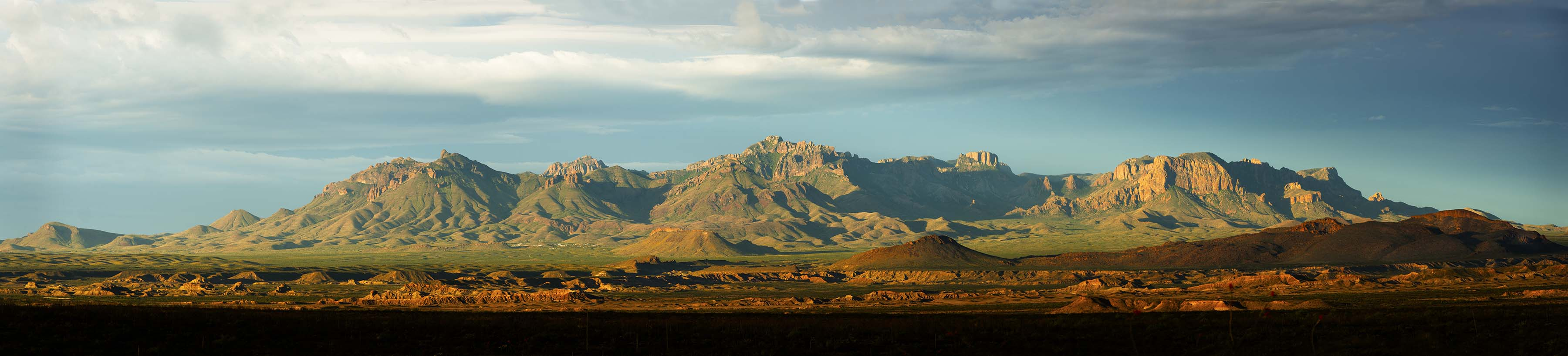 Chisos From Old Ore Road Panoramic
