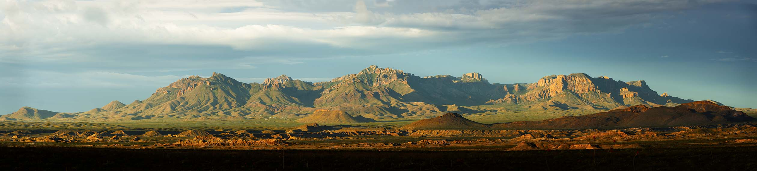 Chisos From Old Ore Road Panoramic [Bloom]